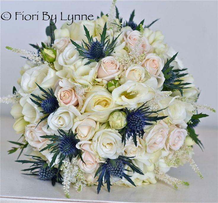 navy champagne wedding | Wedding Flowers Blog: Cherish's Wedding Flowers, Thistles Vintage ...
