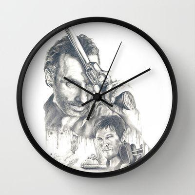 Walking Dead Wall Clock by Heather Andrewski - $30.00