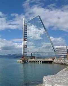 Dominating the sea skyline in Molde, the Rica Seilet Hotel is the stand out place to stay in Molde, Norway!
