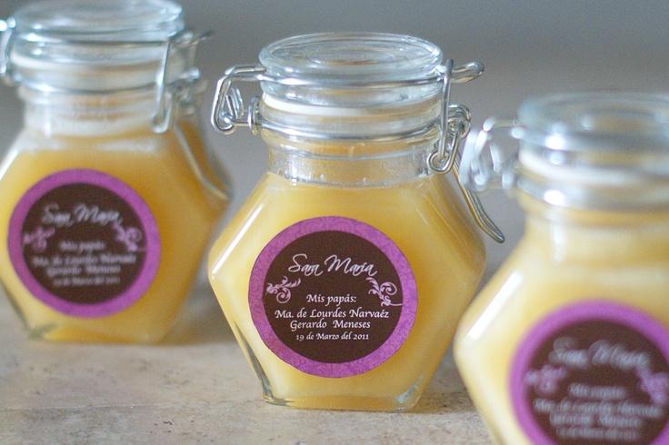 Frasquitos de miel personalizados yumi  #boda, #novias, #recuerdos