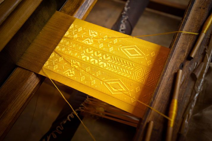 Yup it's woven from spider silk.    The Largest Piece of Golden Spider Silk Cloth In The World | Yatzer