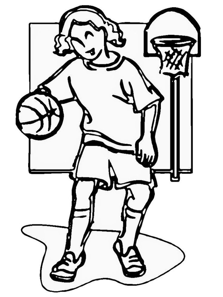 16 Best Basketball Images On Pinterest Kids Net And Kentucky Coloring Pages Realistic Player