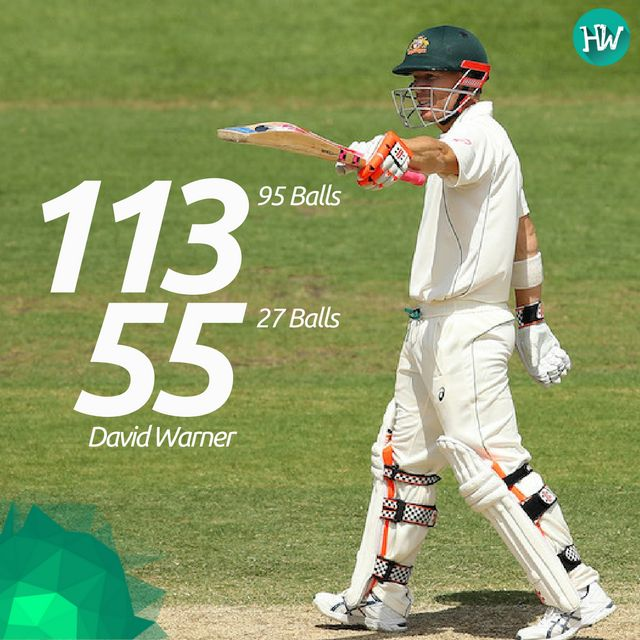 A couple of lightning knocks by David Warner greatly helped AUS to get some quick runs! He was declared as Man of the Match! #AUSvPAK #warner #australia cricket.com.au