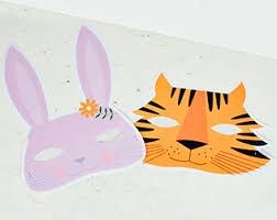Image result for school project tiger mask craft