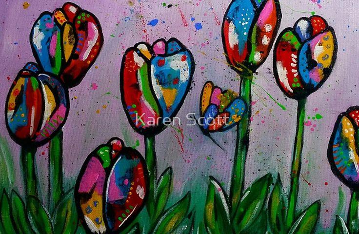 Kaz Art Creation Tulips In Spring