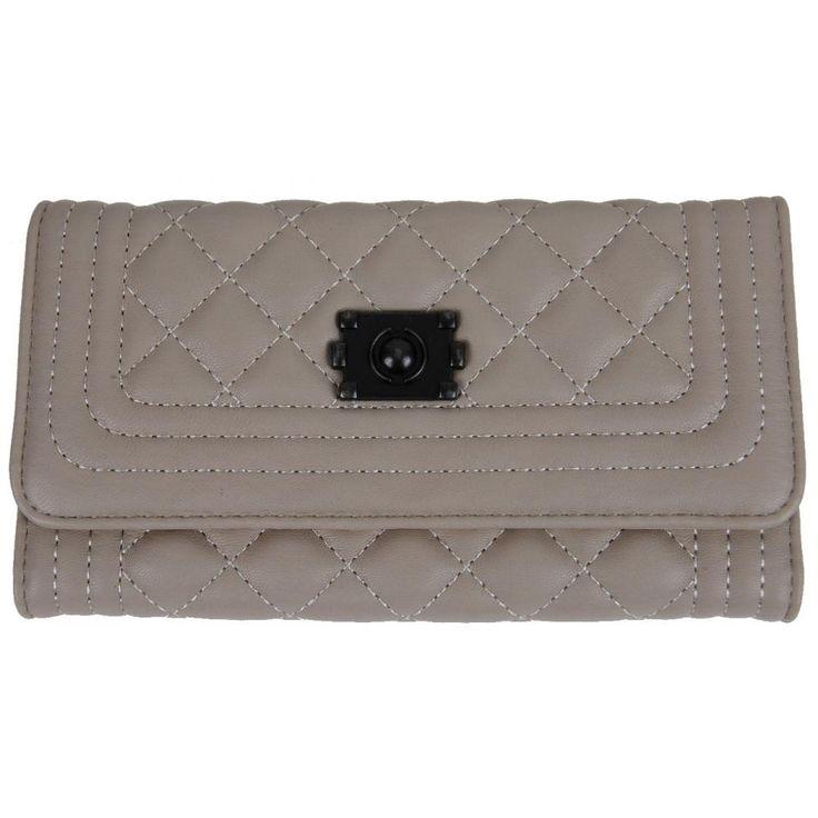 Prošívaná dámská peněženka DF030 krémová