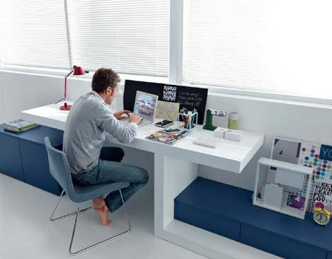contemporary writing desk for a small space