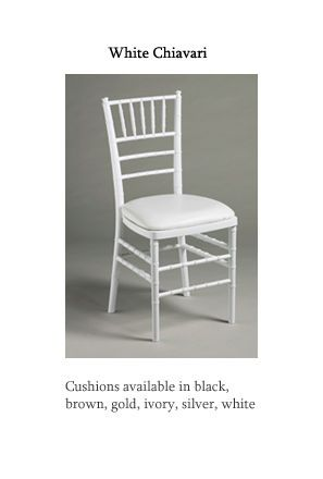 Dining/Specialty Chairs - Chair-Man Mills: Canada's largest party rental firm