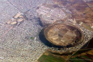 멕시코의 한 도시에 만들어진 놀라운 광경의 화산 분화구