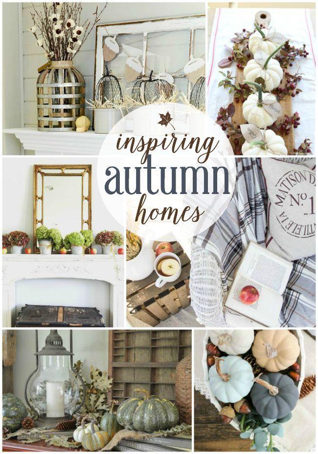 Inspiring Autumn Homes | Roundup via TheTurquoiseHome.com