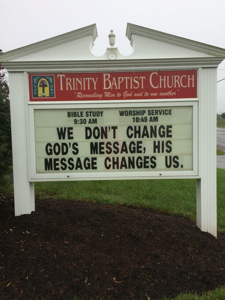Trinity Baptist Church  Christiansburg, Va Church sign / marquee