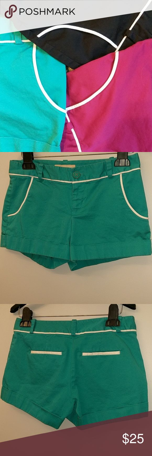 Banana Republic Ryan Fit Teal Shorts Banana Republic Ryan Fit teal shorts.  Front pockets. I have 2 other colors available.  I tend to have problems finding pants/shorts that fit because there is often a gap in the back.  These fit me well and there is no gap! Banana Republic Shorts