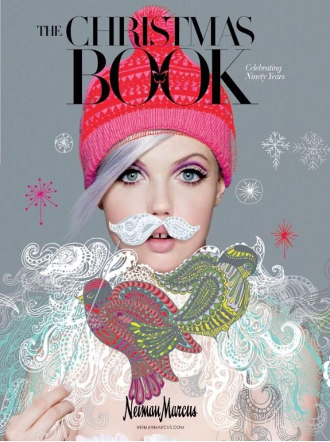 Brilliant holiday catalog cover for Neiman Marcus