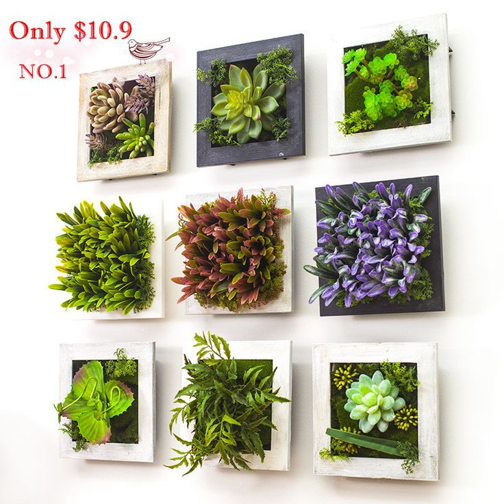 Cheap flowers for decoration, Buy Quality flower cord directly from China flower girl dress hire Suppliers: Vintage wood frame stereo plants Milan leaf succulent plants wall decoration artificial flowersUSD 16.60-48.50/lot4color