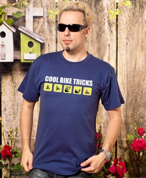 """Cool Bike Tricks"" T-Shirt Design by Kanelart"