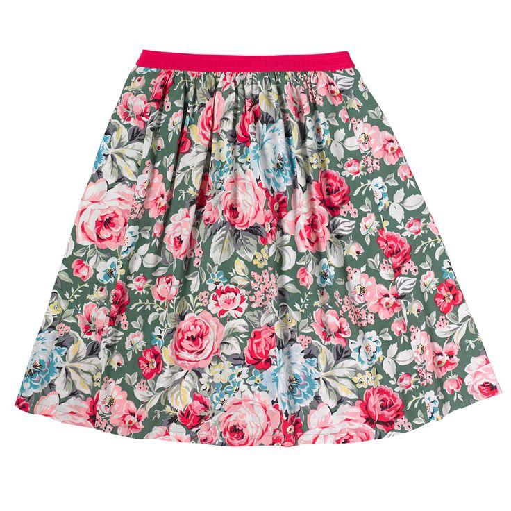 Greenwich Rose Crepe Skirt   Cath Kidston  