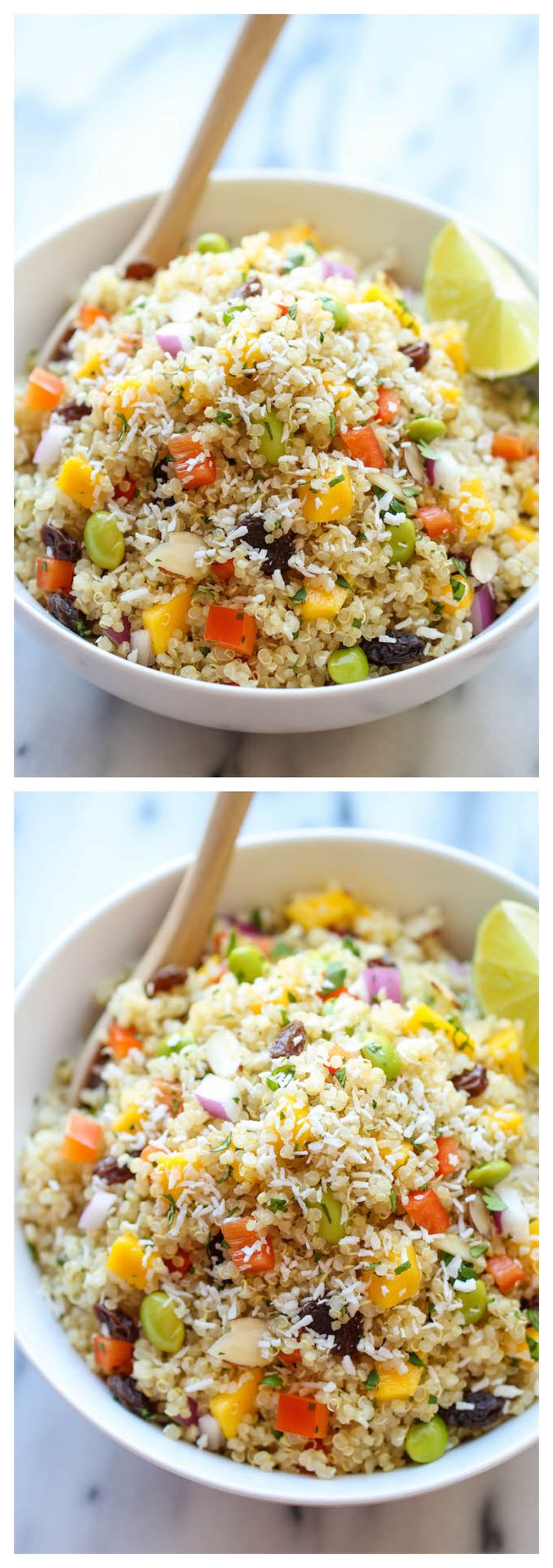 Whole Food's California Quinoa Salad - A healthy, nutritious copycat recipe that tastes 1000x better than the store-bought version! @bonnie_leigh