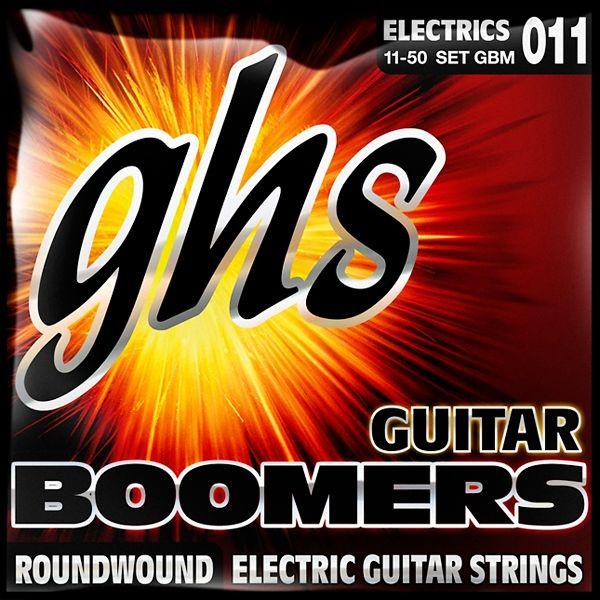 GHS GBM Boomers Medium - Jeu de 6 cordes pour guitare électrique. Tirants : 011 - 015 - 018 - 026 - 036 - 050