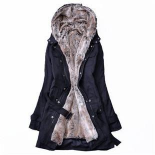 Женская длинная зимняя куртка