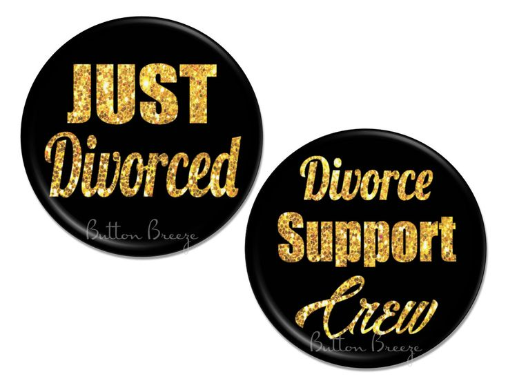 Just Divorced Party Favors, Set of 10 Divorce Party Pinback Button Badges - BB1562 by ButtonBreeze on Etsy https://www.etsy.com/listing/470720705/just-divorced-party-favors-set-of-10