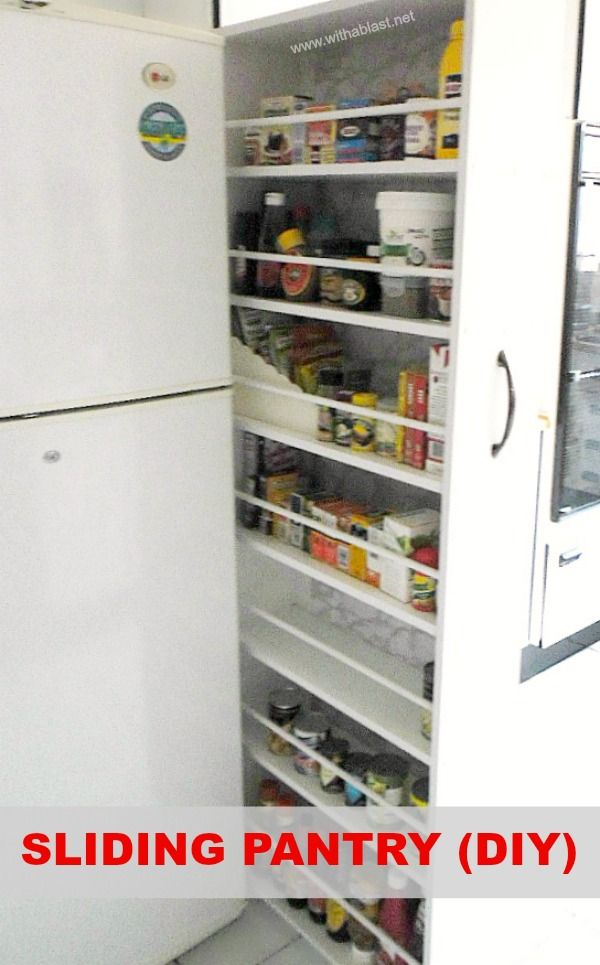 Sliding Pantry (DIY) is an easy Kitchen project (also suitable to