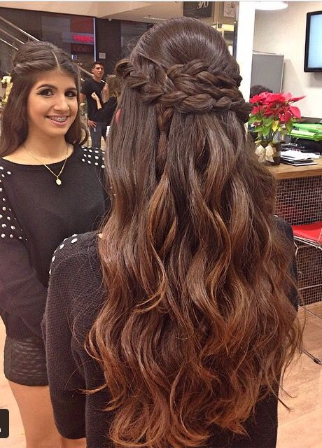 101 Best Images About Penteado Com Cabelo Solto On Pinterest