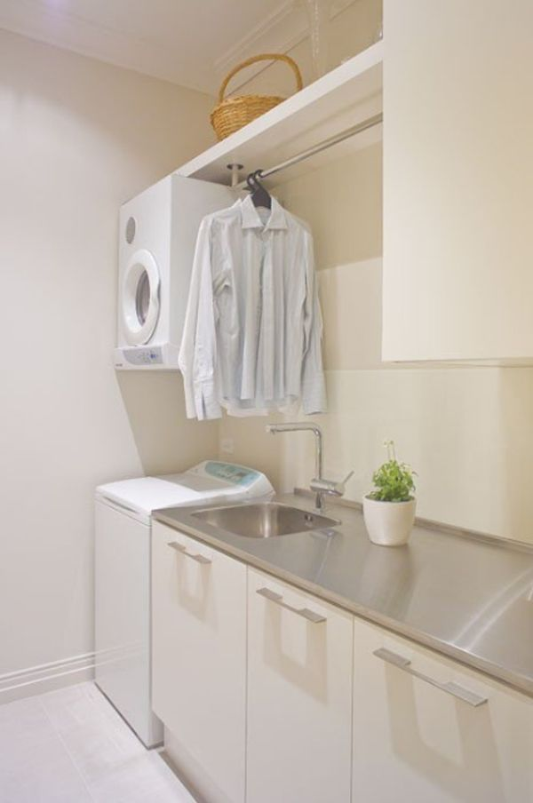20 small laundry room decor with small space solutions 20 Laundry Room Design with Small Space Solutions