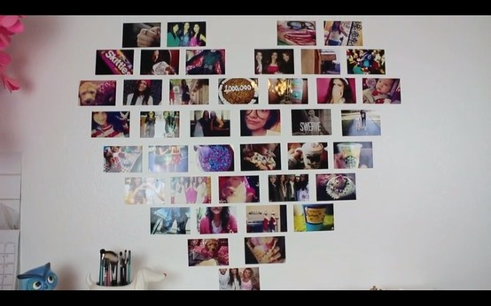 diy heart photo collage  macbarbie07
