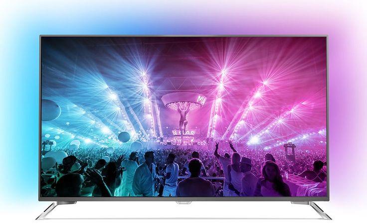 """Philips 49PUS7101  Description: Philips 49PUS7101/12: Ongelofelijke kleuren op 49"""" Achter het indrukwekkende 49"""" scherm van de Philips 49PUS7101 gaat meer schuil dan je zou denken. Perfecte pixels brengen in samenwerking met HDR Plus en Micro Dimming Pro technologie alles tot leven in jouw huiskamer. Met een uitbreidbaar geheugen heeft deze Android TV voldoende plek voor al jouw favoriete apps. Die je dan weer beleeft op het 4K Ultra HD scherm van deze 49PUS7101. De belevenis gaat verder dan…"""