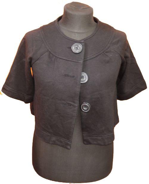 BRUMLA.CZ – Značkový dětský a dospělý second hand a outlet, použité oděvy pro děti a dospělé - Dámský černý mikinový kabátek zn. New look