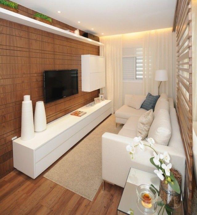 Acamamento em madeira para sala de tv.