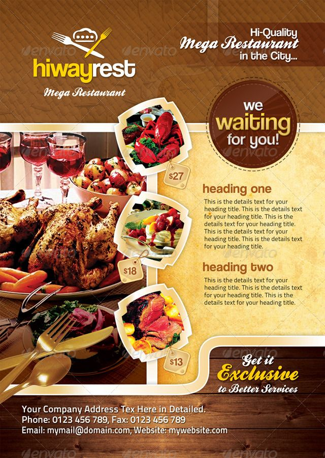 7 best Flyers images on Pinterest Flyers, Food menu and Graphics - food brochure