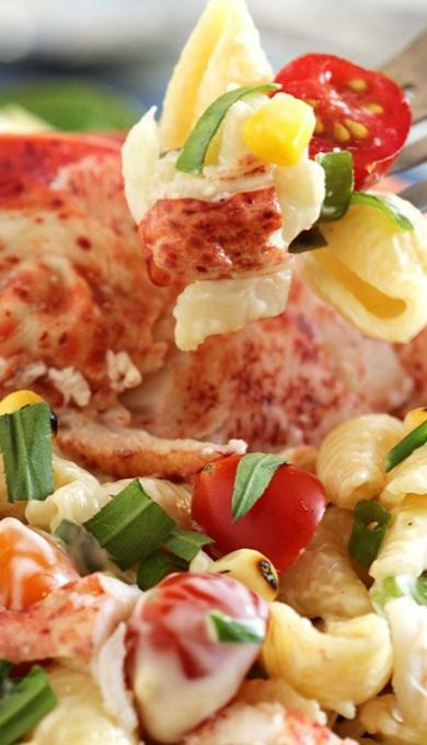 Lobster Pasta Salad with Lemon Tarragon Dressing