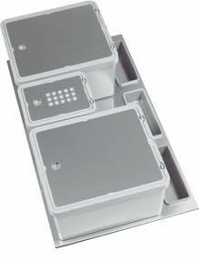 Waste unit with detergent holder for deep drawers