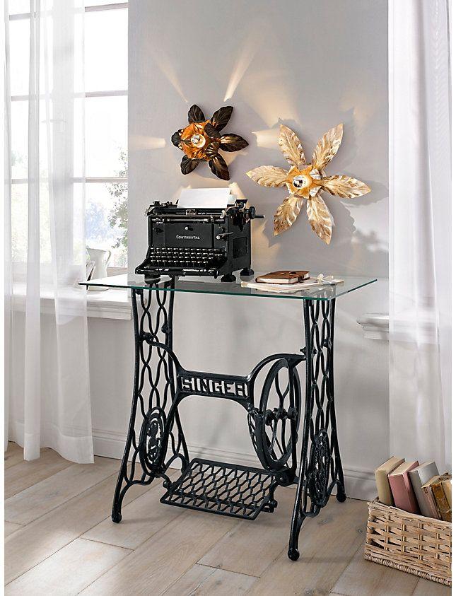 helline home machine a ecrire ancienne en metal noir. Black Bedroom Furniture Sets. Home Design Ideas