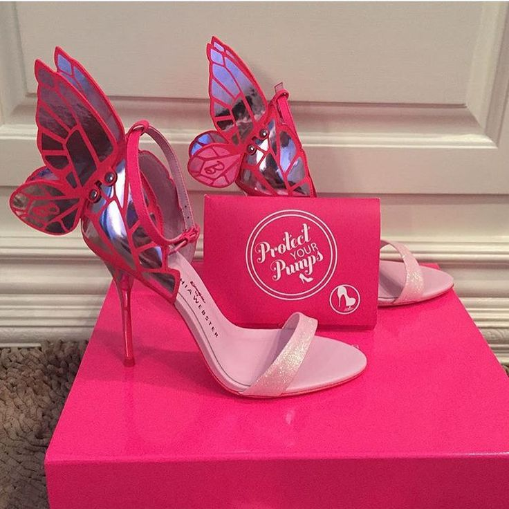 Sophia Webster shoes using Protect Your Pumps | Actual customer photo protecting these designer shoes with Protect Your Pumps | Protect Your Pumps extends the life of your heels & keeps them looking new by protecting the bottom of your shoe from the ground | Order @ ProtectYourPumps.com