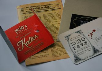 1930s gangster murder mystery party invitation, save the date and game night 'newspaper'