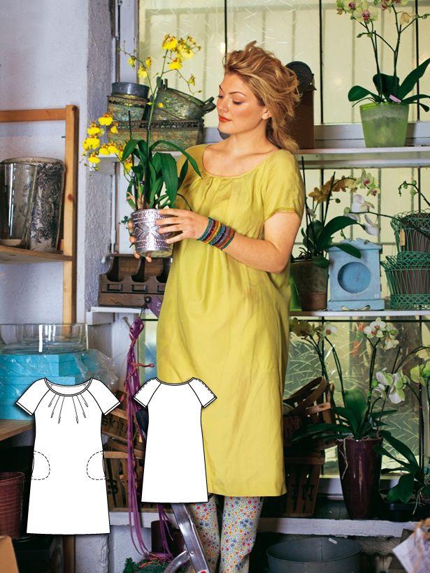 Short Sleeve Dress (Plus Size) 04/2011 #burdastyle #sew #sewing #diy