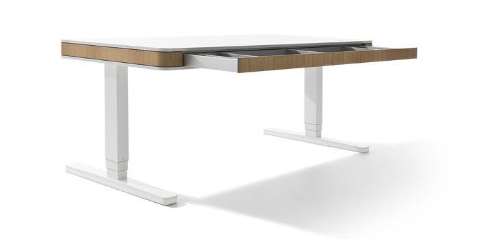 Moll Unique Elektrisch Hoehenverstellbarer Schreibtisch T7 Xl 45grad Eiche Schublade Offen Hohenverstellbarer Schreibtisch Schreibtisch Schreibtisch Zu Hause