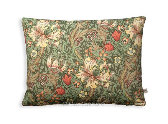 William Morris Golden Lily Minor Vintage Retro by ElliMaeCushions