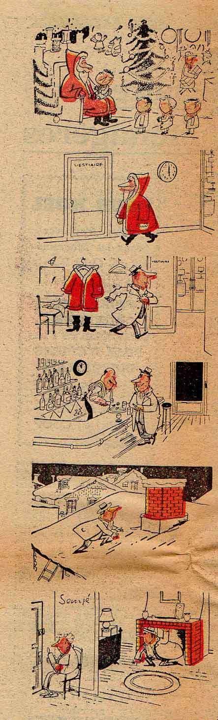 Jean-Jacques Sempé Le Coopérateur de France, illustration