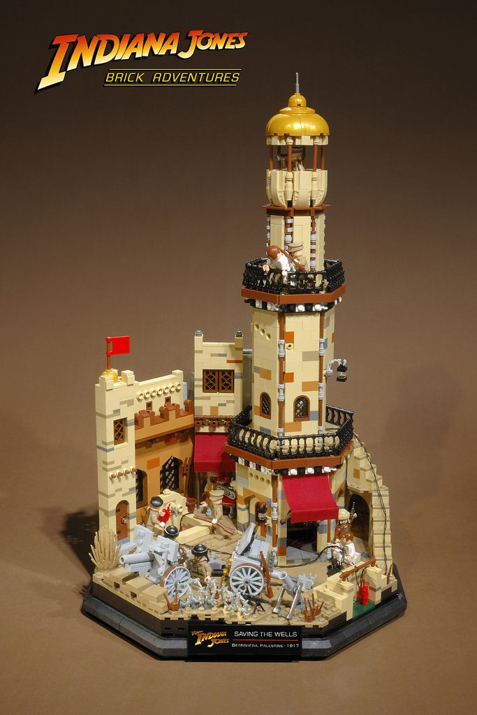 """Beersheba Overview  Save the Wells - Palestine, 1917,Lego    One of the most exciting episodes of the """"Adventures of Young Indiana Jones"""" television series is """"Daredevils of the Desert"""" in which Indy leads a covert operation behind enemy lines to stop the Turks from blowing up the wells in Beersheba before the British and Australian forces take the town."""