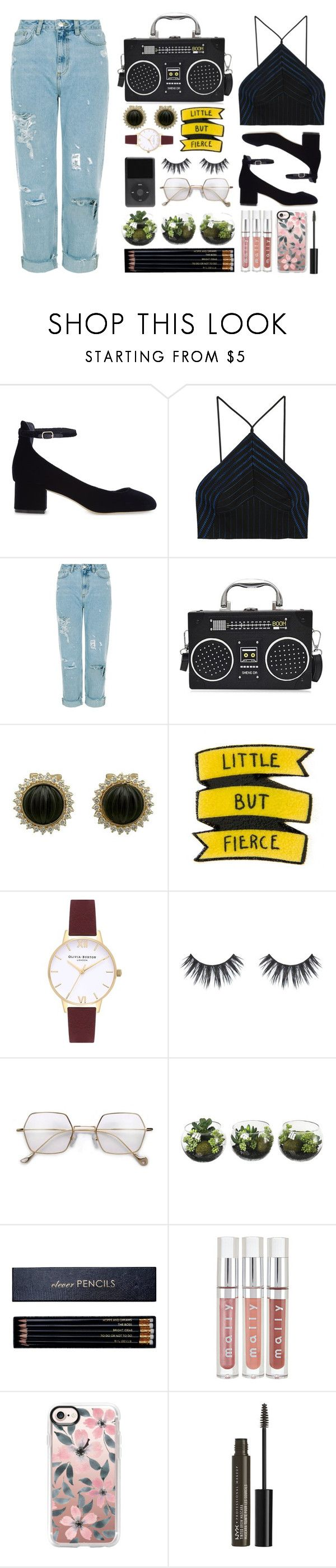 """""""Dark Side of the Moon"""" by pleasantlyvacant ❤ liked on Polyvore featuring Sandro, Alexander Wang, Olivia Burton, Sloane Stationery, Casetify and NYX"""
