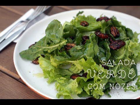 Vamos Pra Cozinha #08 | Salada Verde com Nozes Temperadas - YouTube
