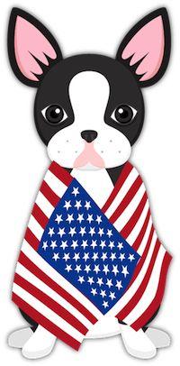 Boston Terrier American Flag Emoji from Boston Terrier Lover Emoji Stickers for iMessage For Puppy and Dog Lovers. #bostonterrier #bostonterriercult #usa #patriot #america
