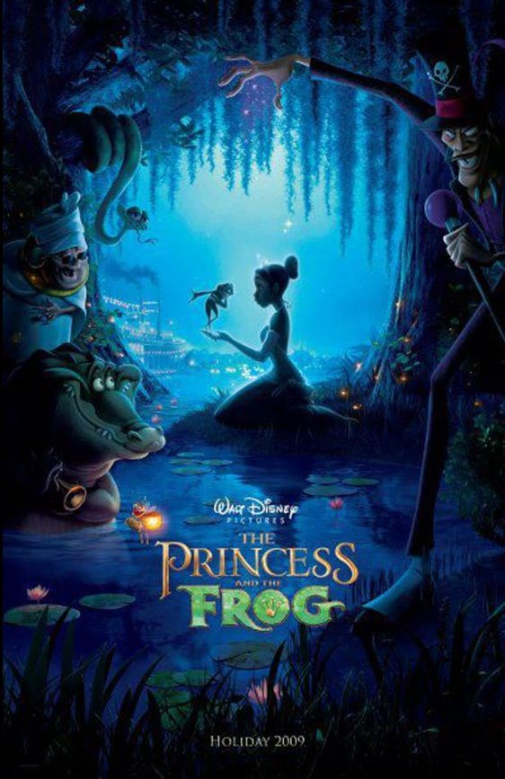 Original released Disney movie posters : The Princess and the Frog