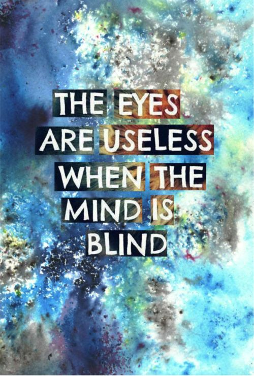 The eyes are useless when the mind is blind  #knowledge #wisdom #life