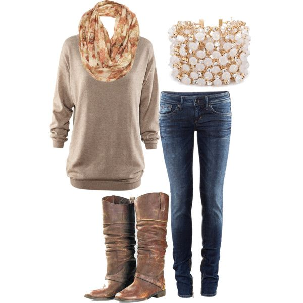 cute & comfyFall Outfit Ideas, Fall Clothing, Fashion Ideas, Fall Style, Casual Fall, Fall Looks, Fall Fashion, Brown Boots, Cute Outfit