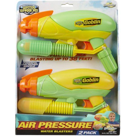 Buzz Bee Toys Water Warriors Goblin Water Blaster, 2pk, Multicolor