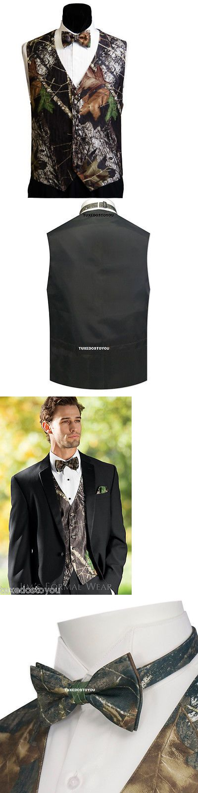 Tuxedo and Formal Vests 105514: Xxxl 3Xl New Mossy Oak Camo Tuxedo Vest Bow Tie Tux Camouflage Duck Dynasty -> BUY IT NOW ONLY: $67.95 on eBay!